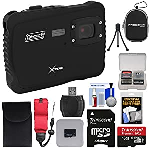 Coleman Xtreme C6WP HD Shock & Waterproof Digital Camera with 16GB Card + Reader + Case + Kit
