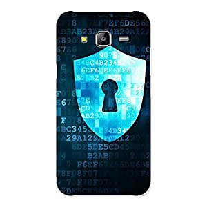 Delighted Digital Secure Print Blue Back Case Cover for Samsung Galaxy J5