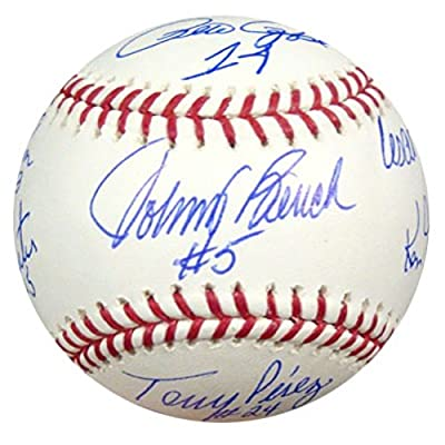 Cincinnati Reds Big Red Machine Autographed Official Mlb Baseball With 8 Signatures Psa/dna Stock #15730