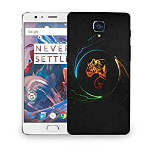 Snoogg multicolor tiger Designer Protective Back Case Cover For OnePlus 3