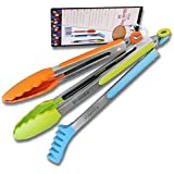 Silicone Food Tongs. A Posh 3-Piece Set of Rust-Resistant Stainless Steel Food Tongs With Silicone Heads and Side Grips. Flip, grab, toss, and more with this three-piece tong set.