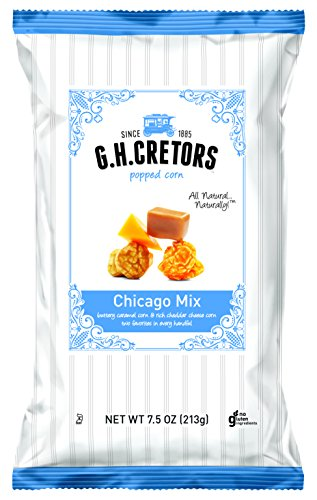 G.H. Cretors Popcorn Chicago Mix, 7.5-Ounce Bags (Pack of 12)