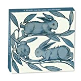 Museums and Galleries Marketing. Victoria and Albert Museum 10.6 x 10.6 x 1.4cm Rabbits Running along a Branch Designed Mini Note Card Wallet