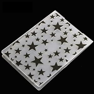 10 Styles Plastic Embossing Folder DIY Craft Template Molds Stamp Stencils Scrapbook Paper Cards Photo Album Making Tool Embossing Folders Handmade Art Craft Supplies Fondant Cake Decorating Mold (Color: 10Pcs)