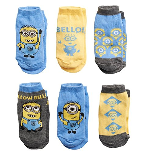 Despicable Me Minion 6-pack toddler Low-Cut Socks