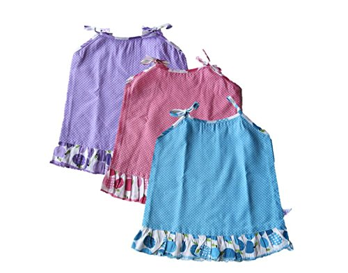 New Born Girl baby cotton clothing - 3 Jablas cum frock - Daily wear