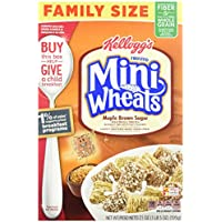 4 Pack Kellogg's Frosted Mini Wheats Bite Size Maple Brown Sugar (21-ounce)