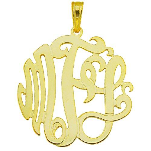 10YMono125p-10K-Yellow-Gold-125-3-initial-Monogram-Pendant
