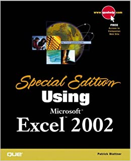 Special Edition Using Microsoft Excel 2002 - Contributing author Ken Cook