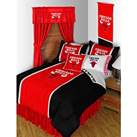 NBA Chicago Bulls Bedding Set - 5pc Comforter Sheets Queen Bed