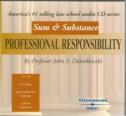 Sum and Substance Audio on Professional Responsibility