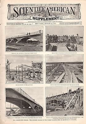 1905 Scientific American Supp August 12 -Kazarguene Bridge; German Alcoholism
