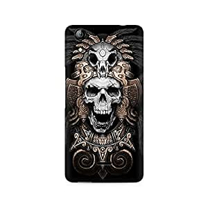 Mobicture Skull Art Premium Printed Case For Micromax Canvas Selfie 2 Q340