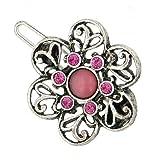 1928 Company Boutique Mini Pink Amethyst Honeysuckle Flower Hair Clip