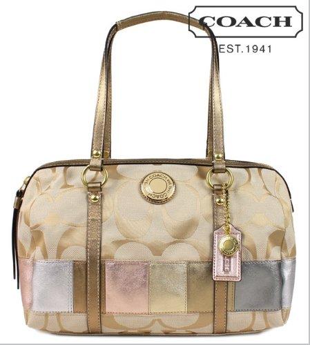Coach COACH F19560 tote bag multicolored Soho signature multi stripe zip Satchell