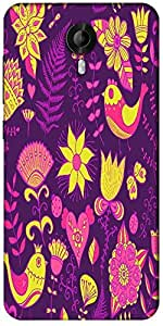 Snoogg Seamless Texture With Flowers Designer Protective Back Case Cover For Micromax Canvas Nitro 3 E455