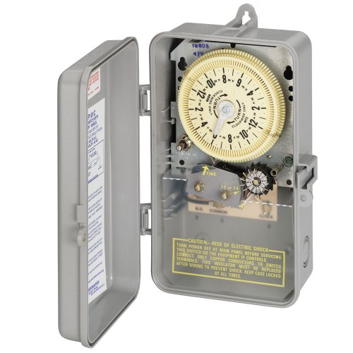 Intermatic-T8805P101C-SPST-125-Volt-Mechanical-Cycle-and-Irrigation-Timer-Switch-with-14-Day-Skipper-and-3R-Plastic-IndoorOutdoor-Enclosure