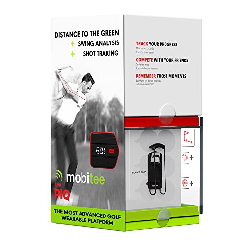 Mobitee and PIQ Unisex Adult Shot Tracker Golf Shot Tracker GPS & Swing Analyzer