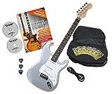 Rocktile Pro ST3-SL Classic Guitare Metal Silver avec accessoires
