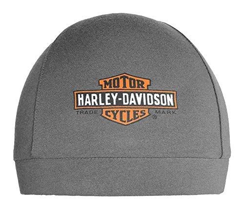 Harley-Davidson Men's Elongated Bar & Shield Logo Skull Cap, Gray SK31254 (Harley Skull Cap compare prices)