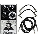 MOJO HAND FX Iron Bell Fuzz Guitar Effects Pedal w/ 4 Free Cables