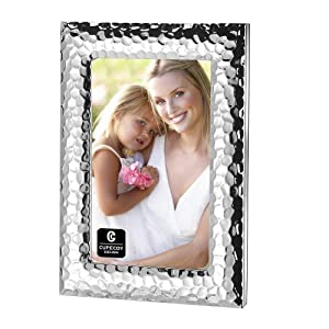 Hammered Silver Plated Metal Photo Frame 4x6