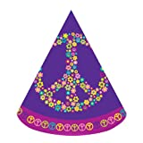Creative Converting Groovy Girl Birthday Party Hats 8 C