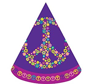 Creative Converting Groovy Girl Birthday Party Hats, 8 Count