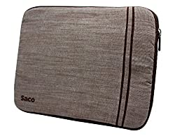 Saco Washable Fabric Laptop Notebook Ultrabook Sleeve Bag Zipper Case with Accessories Adapter Pocket Suitable for Micromax Canvas LapTab LT777 11.6 inch Laptop