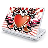 Heart Wings Design Skin Cover Decal Sticker for Toshiba Mini NB205 10.1 inch Netbook Laptop Computer