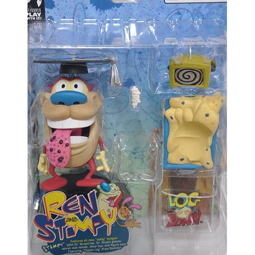 Ren and Stimpy Series 1 Sickly Tongue Stimpy Chase Figure Rare with Bonus LOG Figure By BLAMMO! (Ren Figure compare prices)