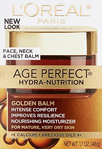 L'Oreal Paris discount duty free L'Oreal Paris Age Perfect Hydra-Nutrition Golden Balm Face, Neck & Chest, 1.7 Fluid Ounce (Packaging May Vary)
