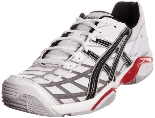 Asics Men's Gel Challenger 8 Oc White/Black/Silver Tennis Shoe E103Y0190 10 UK