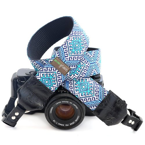 Mimi Green 'Hapi in Blue' Designer DSLR Camera Strap