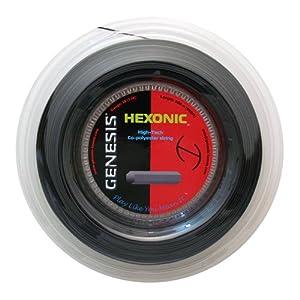 Buy Genesis 660-Feet Hexonic Tennis Racket Reel Set, Black, 16L 1.27mm by Genesis