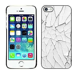 Omega Covers - Snap on Hard Back Case Cover Shell FOR Apple iPhone 5 / 5S - Desert Cracked White Minimalist