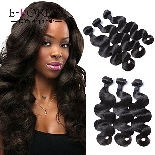 E-forest-hair-Weft-3-Bundles-300g-Brazilian-Virgin-Human-Hair-Weaves-Extension-Unprocessed-Body-Wave-Natural-color-Size-10-10-10