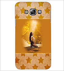 PrintDhaba Praying Girl D-3152 Back Case Cover for SAMSUNG GALAXY A8 (Multi-Coloured)