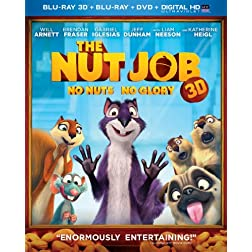 The Nut Job (Blu-ray 3D + Blu-ray + DVD + DIGITAL HD with UltraViolet)