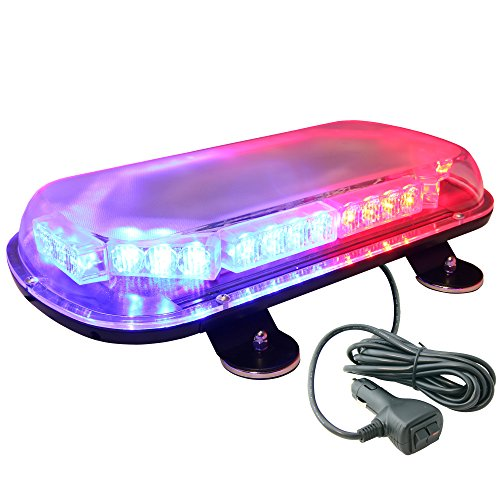Lamphus Solarblast Roof-Top Mount 34W Led Police Personal Vehicle Strobe Warning Mini Light Bars ( Other Color Available ) - Blue Red
