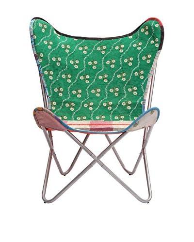Karma Living Kantha Butterfly Chair, Multi