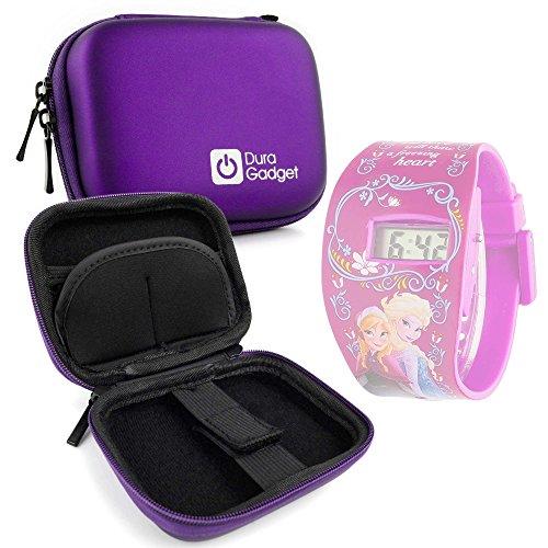 Custodia Protettiva Per Disney Frozen FROZ2 Orologio | Minions | Marvel - Viola - Con Tasca Interna Per Accessori + Mini Moschettone - DURAGADGET