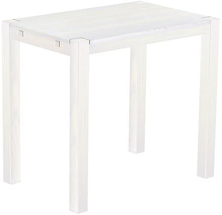 Brasil Rio High Table Furniture 'Kanto' 120x 80x 109cm, Bonito Pine Solid Wood White