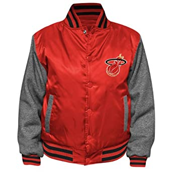 NBA Youth Miami Heat Hardwood Classics Hook Button Satin Jacket by NBA