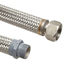 Unisource SF21 Stainless Steel Cryogenic Liquid Transfer Hose Assembly, Stainless Steel NPT Male Hex x JIC Female Swivel Connection