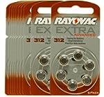 60 piles auditives Rayovac 312 Extra...