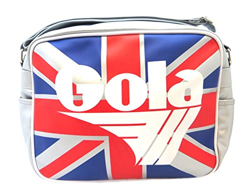 Gola Men's Redford Union Jack Synthetic Shoulder Messenger Bag - shiny retro plastic