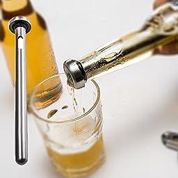 Beer Chiller Stick for Rapid Chilling,2PCS Food Grade Stainless Steel Bottle Wine Beverage Cooler Cooling Sticks-Home and Kitchen Beer Accessories Gift for Men Dad Husband Boyfriend