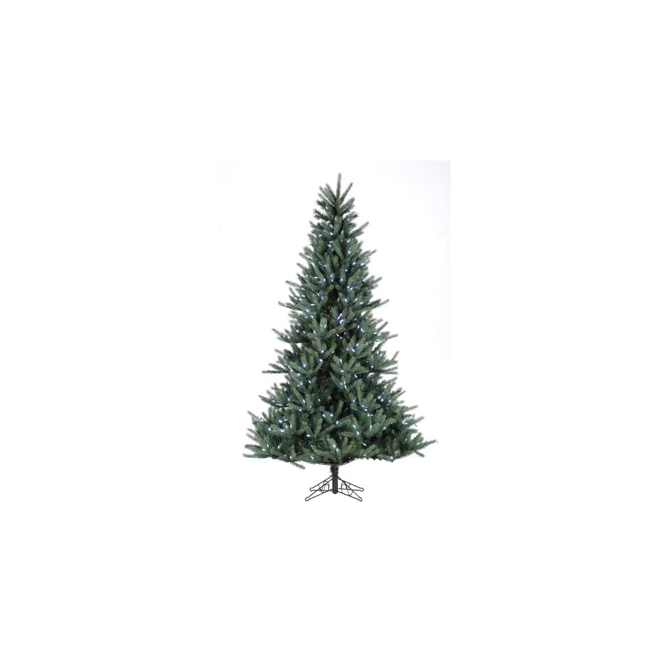 7.5 Pre lit Tiffany Spruce Artificial Christmas Tree   White LED Lights
