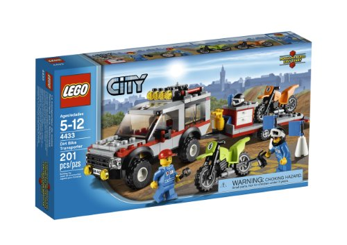 LEGO City Town Dirt Bike Transporter 4433 (Lego Truck And Camper compare prices)